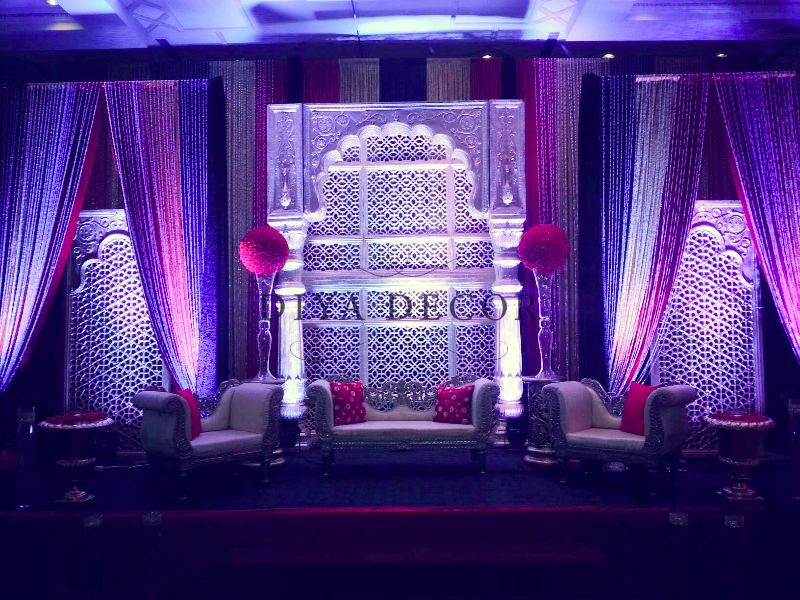 reception decor diya decor