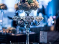 Floral Crystal Candle Stand